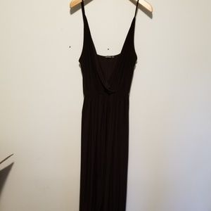 Boohoo Plus black wrap dress